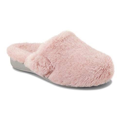 Vionic Gemma Plush Pink Slipper