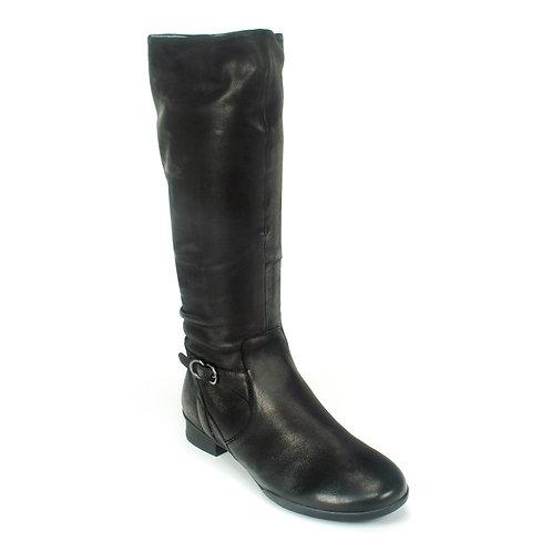 Dansko Kay Tall Leather Boot, Black