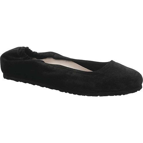 Celina, Black Suede Leather