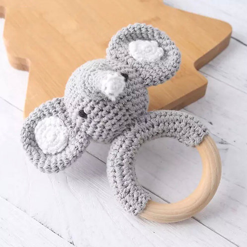 Knitted Elephant Teether