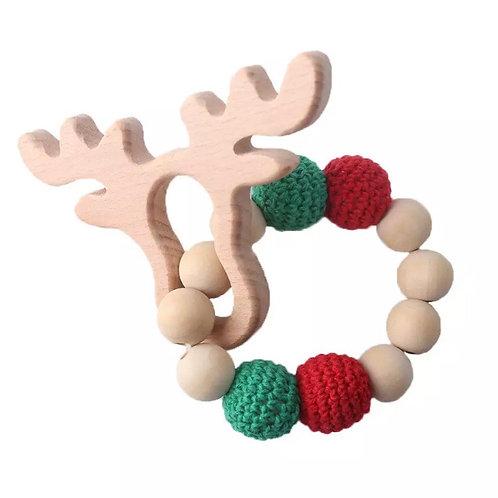 Christmas Deer Teether Festive