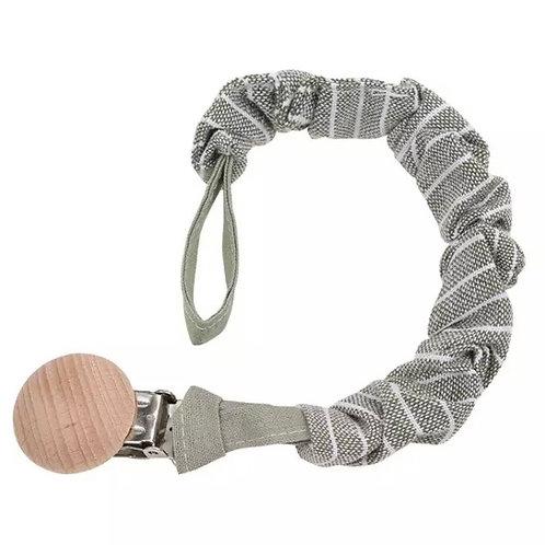 Grey Linen Stripe Dummy Clip