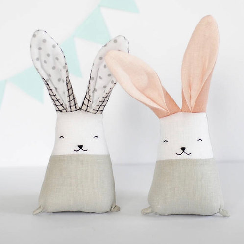 Handmade Blush Bunny Toy