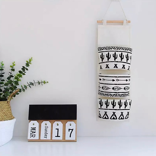 Hanging Tribal Print Storage