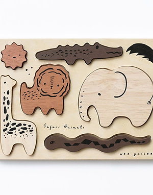 Safari Animals Wooden Tray Puzzle