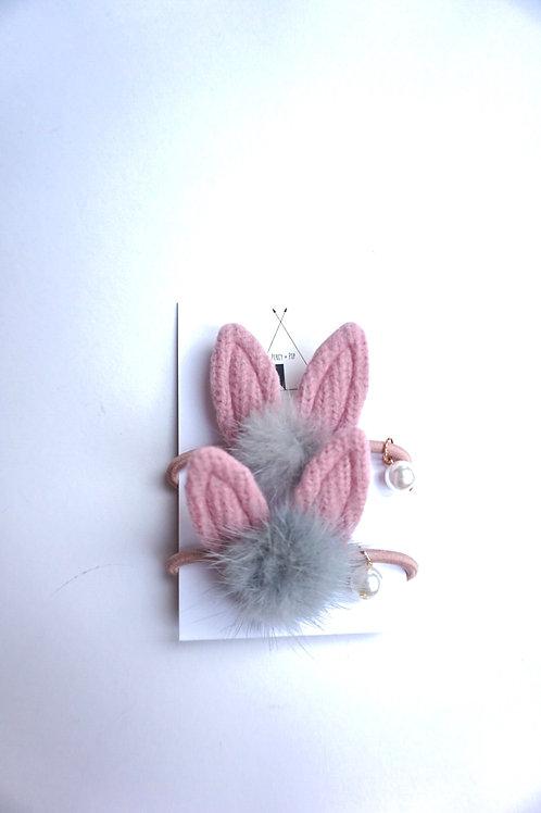 Bunny Ear Bobble 2 Pack Blush