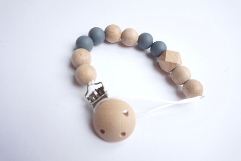 Grey & Natural Dummy Clip