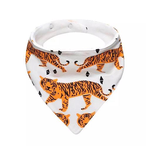 Tiger Print Dribble Bib