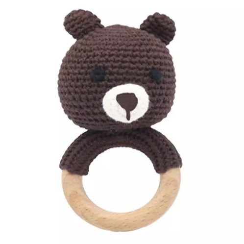 Knitted Bear Teether