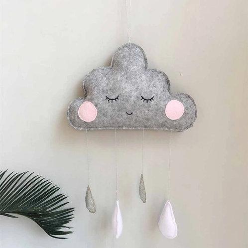 Hanging Cloud Decoration Grey
