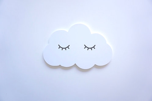 Wooden Cloud Wall Sticker