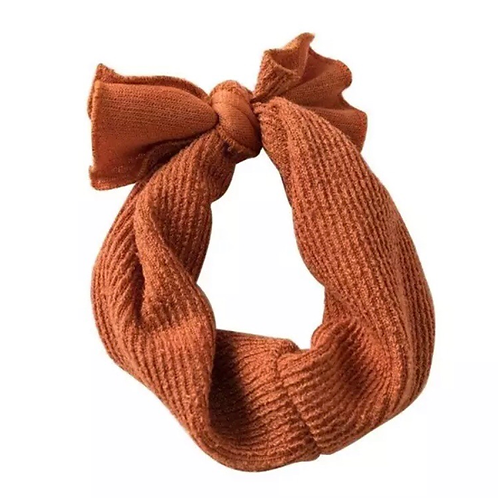 Ribbed Knitted Headband Rust