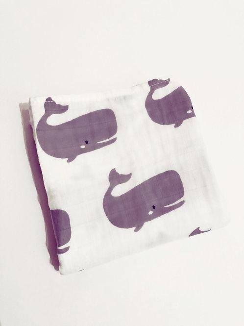 Whale Print Muslin Cloth