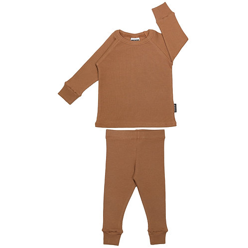 Ribbed Lounge Set Caramel