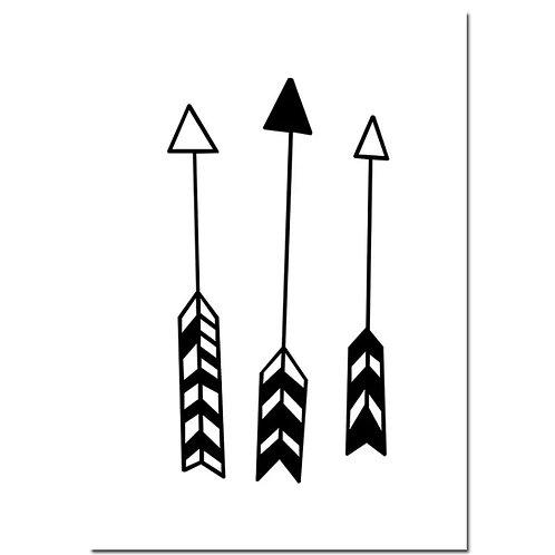 Tribal Arrows Wall Print
