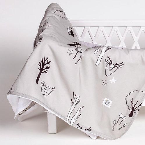 Grey Woodland Blanket
