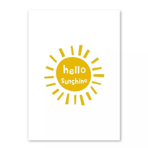 Hello Sunshine A4 Wall Print