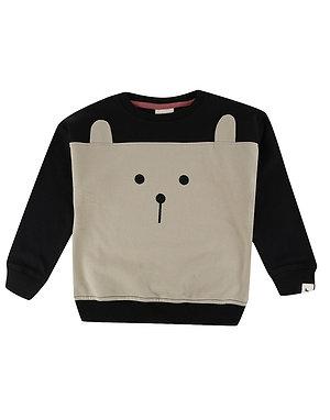 Colour Block Bear Jumper
