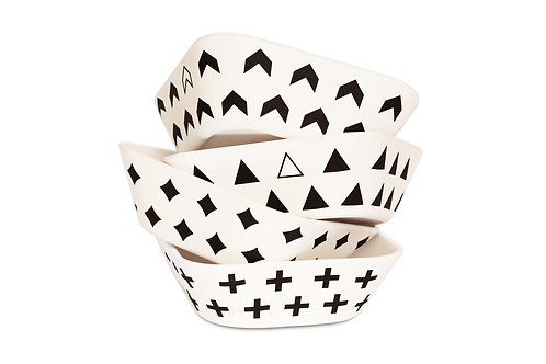 4 Pack Monochrome Bowls
