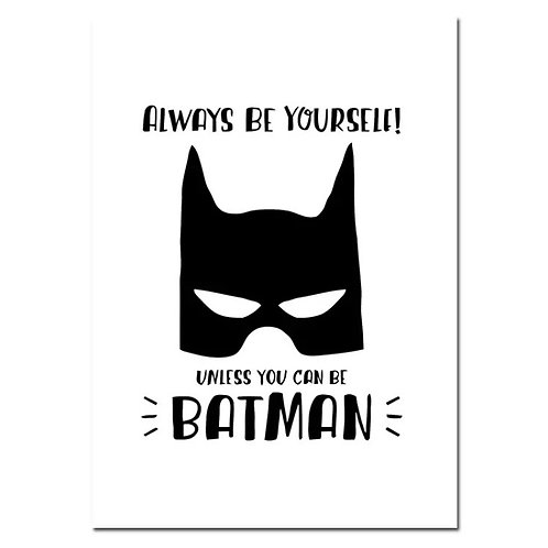 A4 Superhero Batman Wall Print