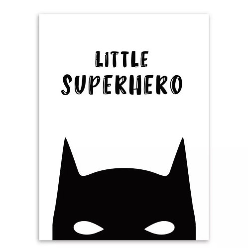 Little Superhero Wall Print