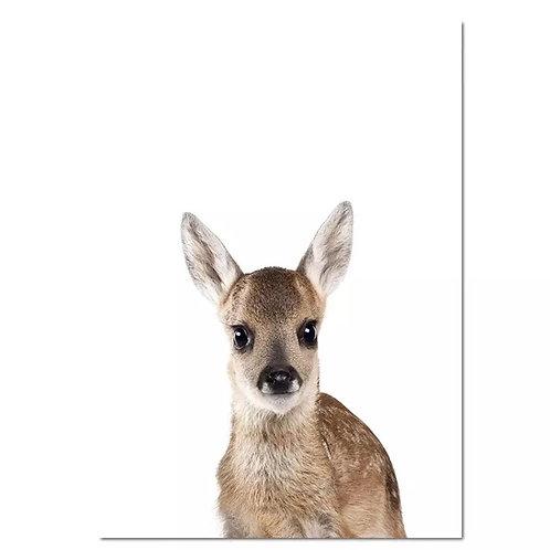 Deer Peekaboo Wall Print