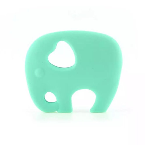 Mint Silicone Elephant Teether