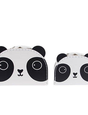 Panda Friends Storage Suitcases Set of 2