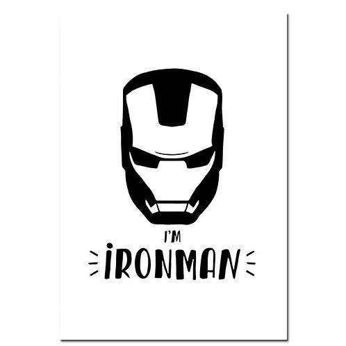 A4 Superhero Iron Man Wall Print