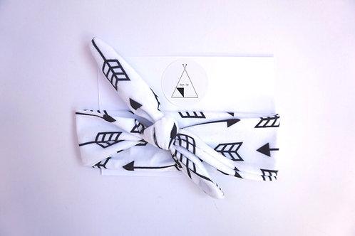 Monochrome Arrow Print Headband