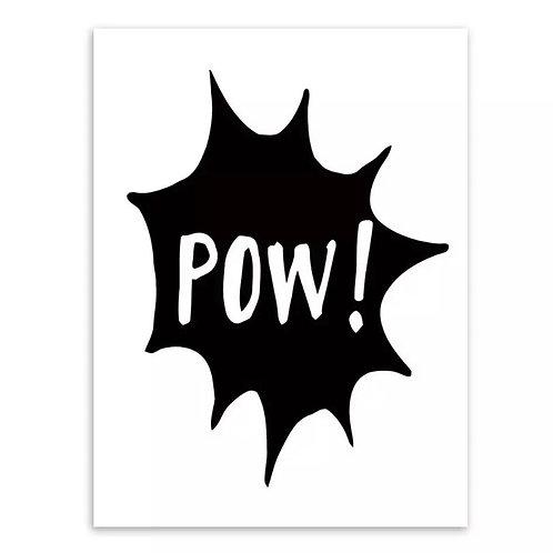 Pow Wall Print