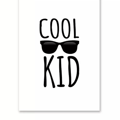 Cool Kid Wall Print