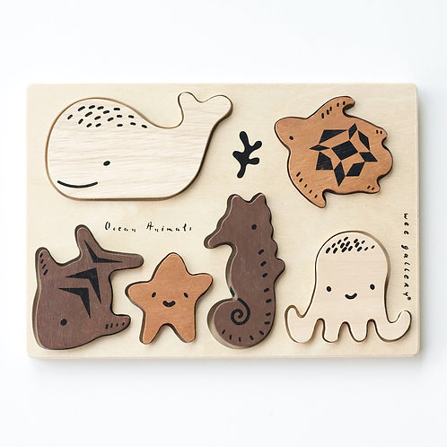 Ocean Friends Wooden Tray Puzzle