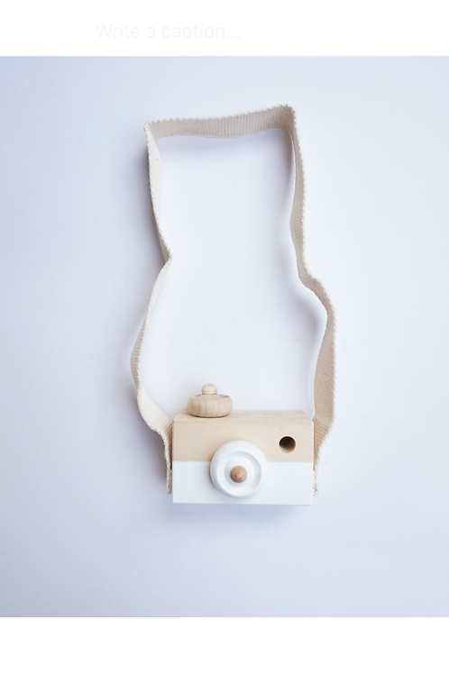 White Wooden Toy Camera