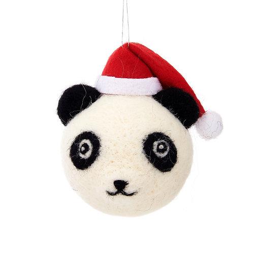 Christmas Panda Hanging Bauble