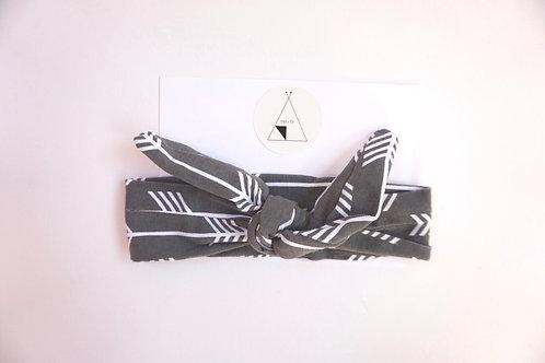 Arrow Print Headband Grey