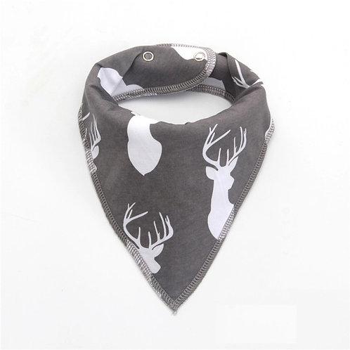 Deer Print Dribble Bib