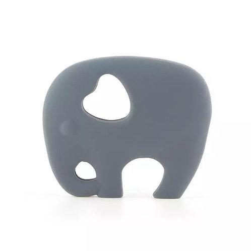 Grey Silicone Elephant Teether