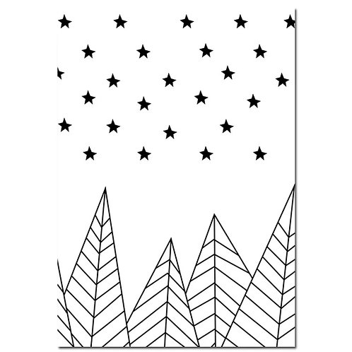 Starry Mountain Wall Print
