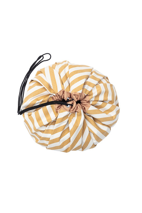 Play & Go Mustard Stripes Toy Storage Bag