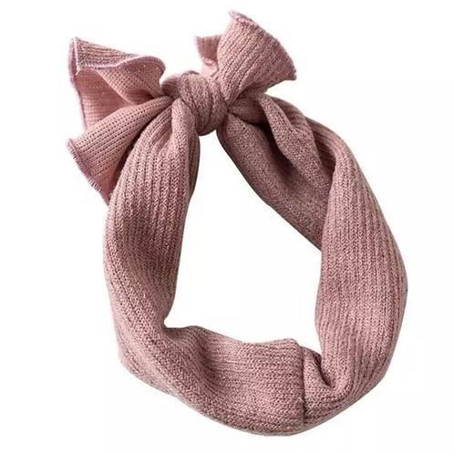 Ribbed Knitted Headband Blush