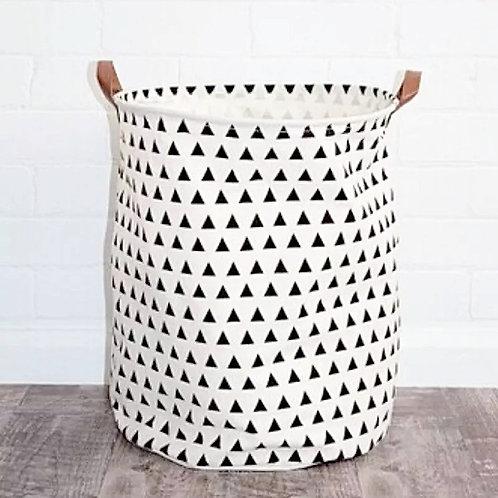 Triangle Print Storage Basket