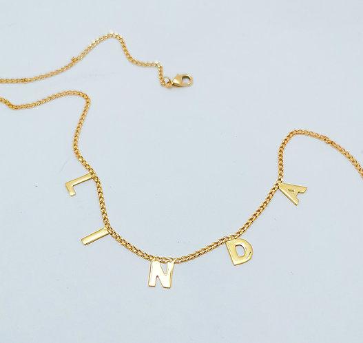 Collar letras soldadas mini