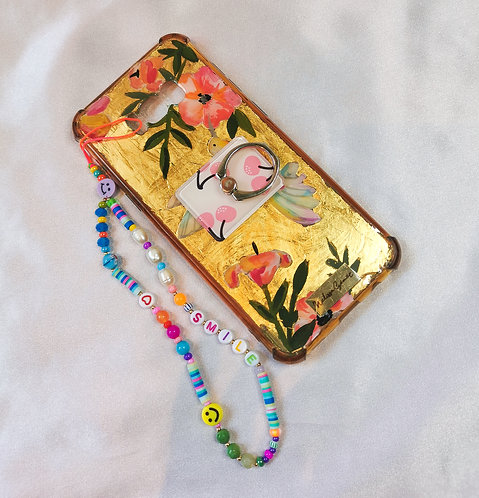 Phone strap smile