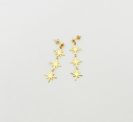 Aretes triple destello Astral