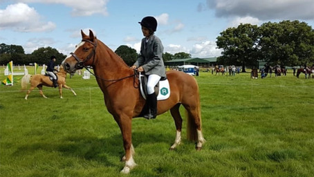 Radstones sponsored contender in the North Oxfordshire Riding Club......