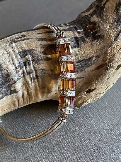 Crystal Copper Duo Bracelet