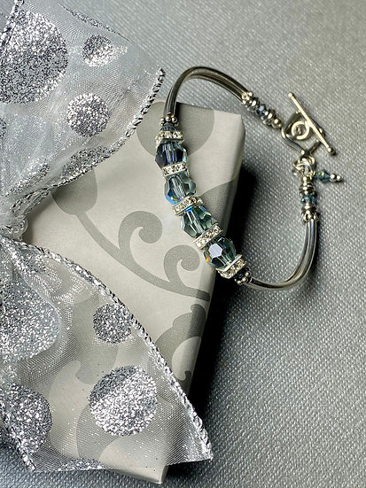 Indian Sapphire AB Duo Bracelet