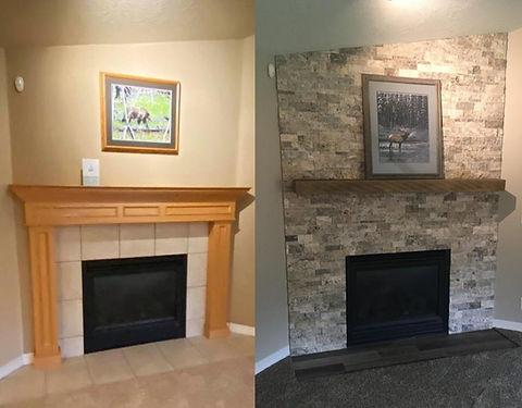 fireplace remodel - home remodel - before and after - contractor - interior remodel - finish carpenter - interior painting - painting contractor - painter Salem, OR fireplace repair - Painting - Exterior Home Paint - Painting Contractor - House Painter - Salem, OR - Salem Oregon