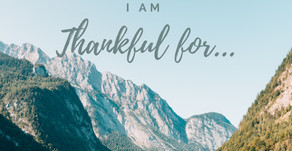 I'm Thankful for...